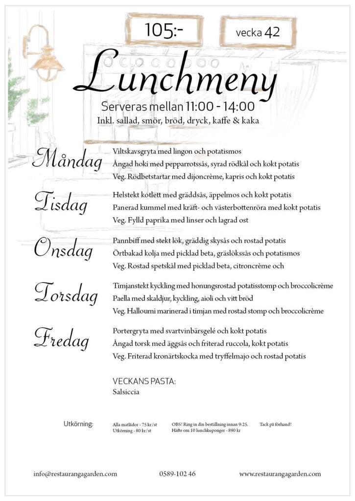 Lunchmeny